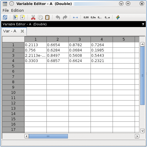 how to bring up variable panel in matlab