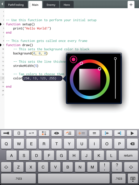 Figure 3 Codea Is A Lua Development Environment On The IPad Twolivesleft