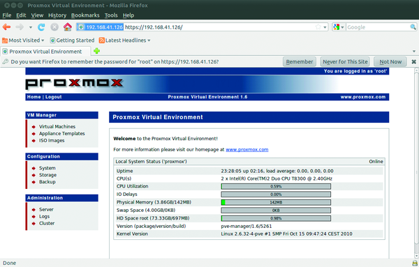 Proxmox Virtual Appliance » ADMIN Magazine
