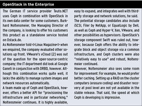 Ceph and OpenStack Join Forces / Articles / HPC / Home - ADMIN Magazine