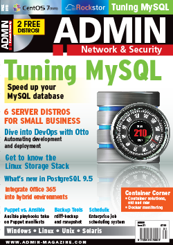Issue 31: Tuning MySQL » ADMIN Magazine