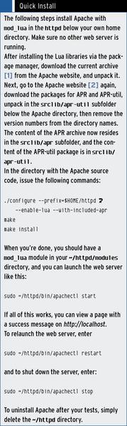Lua for Apache » ADMIN Magazine